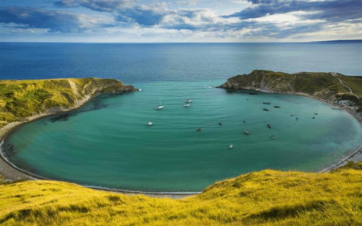 Porthcurno Bay, Cornualles, Inglaterra