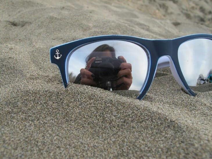 fotografía del reflejo de los lentes