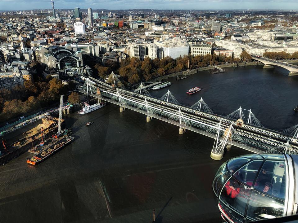 Primera vez en la vista del London Eye