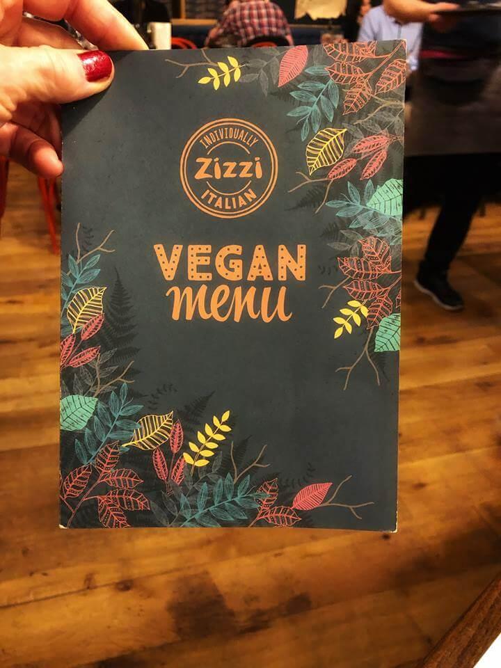 Menú vegano por primera vez en Londres