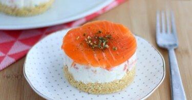 Cheesecake salado de salmón