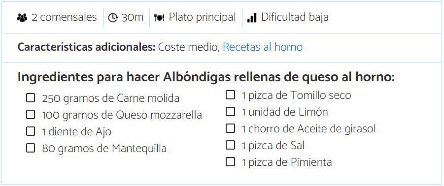 albondigas mexicanas con queso