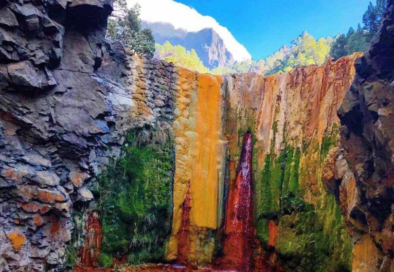 Como Llegar a la Cascada de Colores en la Caldera de Taburiente