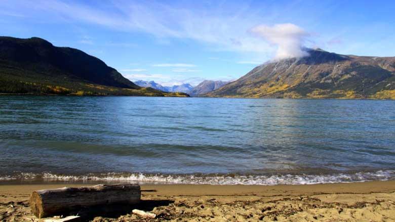 10. Bennett Lake Beach, Yukon