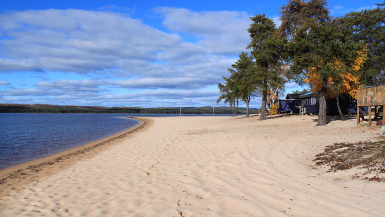 Playa del lago Faillon, Abitibi-Témiscamingue
